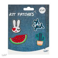 Kit Patches - Atitude e o Basico - Coelho/ Oh Yeah/ Melancia/ Cacto