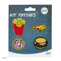 Kit Patches - Atitude e o Basico - Fritas/ Pizza/ Donut/ Hamburguer