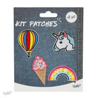 Kit Patches - Atitude e o Basico - Balao/ Unicornio/ Sorvete/ Arco-iris