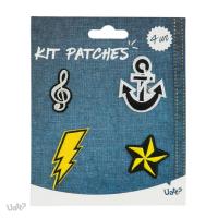 Kit Patches - Atitude e o Basico - Nota Musical/ Ancora/ Raio/ Estrela