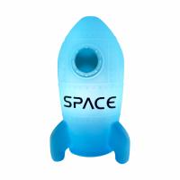 Foguete Luminária Azul | Presente Criativo