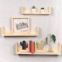 Kit 3 Prateleiras Livros (3 Un.) - Wood