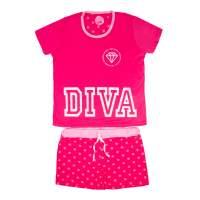 Pijama Short Adulto  Feminino M - Diva Descolada